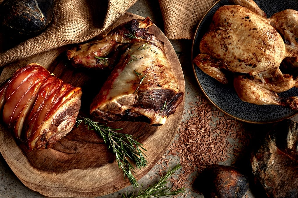 Meat food photography and styling